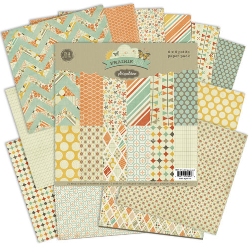 Pink Paislee - Prairie Hills Collection - 6 x 6 Petite Paper Pack