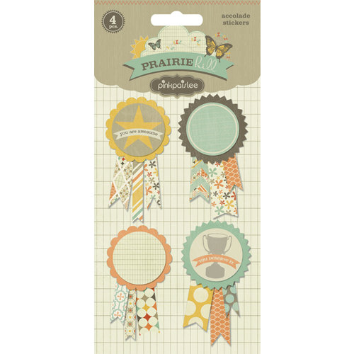 Pink Paislee - Prairie Hills Collection - 3 Dimensional Stickers - Accolade