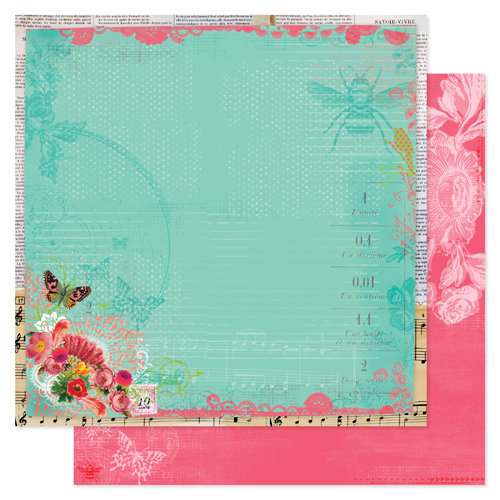 Pink Paislee - Spring Jubilee Collection - 12 x 12 Double Sided Paper - Party