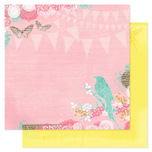 Pink Paislee - Spring Jubilee Collection - 12 x 12 Double Sided Paper - Celebration