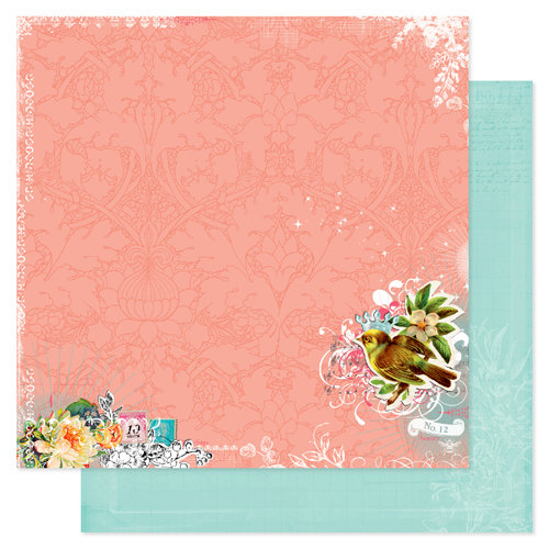Pink Paislee - Spring Jubilee Collection - 12 x 12 Double Sided Paper - Shindig