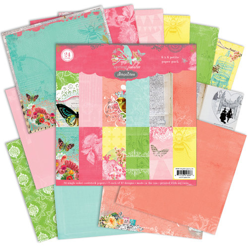 Pink Paislee - Spring Jubilee Collection - 6 x 6 Petite Paper Pack