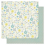 Pink Paislee - Indigo Bleu Collection - 12 x 12 Double Sided Paper - Denim