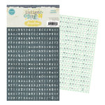 Pink Paislee - Indigo Bleu Collection - Alphabet Stickers - Bitty Blocks