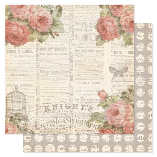 Pink Paislee - London Market Collection - 12 x 12 Double Sided Paper - Addington