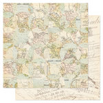 Pink Paislee - London Market Collection - 12 x 12 Double Sided Paper - Notting Hill