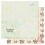 Pink Paislee - London Market Collection - 12 x 12 Double Sided Paper - Royal Charm