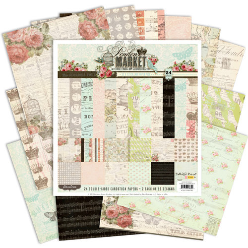 Pink Paislee - London Market Collection - 12 x 12 Paper Pack