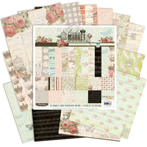Pink Paislee - London Market Collection - 6 x 6 Petite Paper Pack