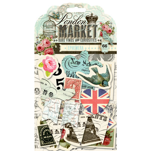 Pink Paislee - London Market Collection - Ephemera Pack