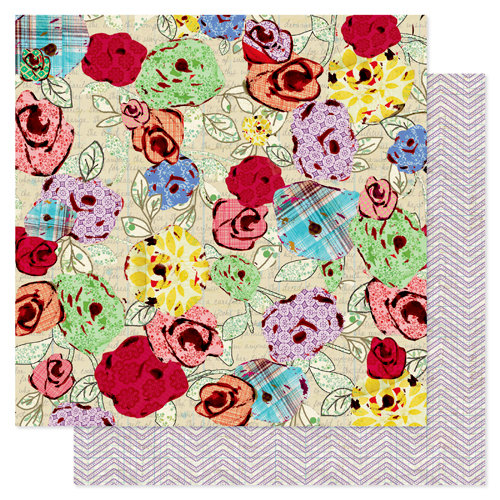 Pink Paislee - She Art Collection - 12 x 12 Double Sided Paper - Inspire