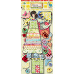 Pink Paislee - She Art Collection - Bits and Pieces - Die Cut Tags - Paper Dolls