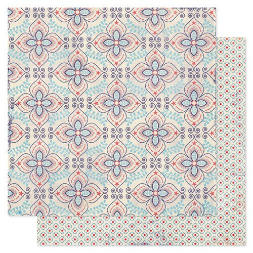 Pink Paislee - Declaration Collection - 12 x 12 Double Sided Paper - Bandana