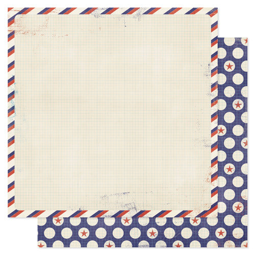 Pink Paislee - Declaration Collection - 12 x 12 Double Sided Paper - Block Party