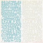 Pink Paislee - Declaration Collection - 12 x 12 Cardstock Stickers - Alphabet