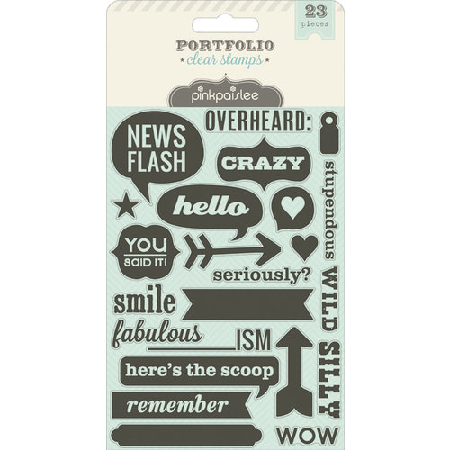 Pink Paislee - Portfolio Collection - Clear Acrylic Stamps