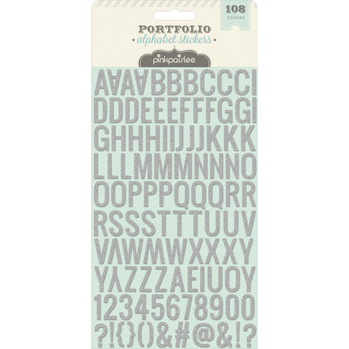 Pink Paislee - Portfolio Collection - Puffy Glitter Stickers - Alphabet
