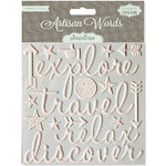 Pink Paislee - Artisan Collection - Resist Words - Travel