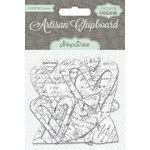 Pink Paislee - Artisan Collection - Resist Chipboard Shapes - Hearts