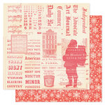 Pink Paislee - City Sidewalks Collection - Christmas - 12 x 12 Double Sided Paper - Santa's Workshop