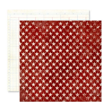 Pink Paislee - Starlight Collection - 12 x 12 Double Sided Paper - Shine