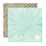 Pink Paislee - Starlight Collection - 12 x 12 Double Sided Paper - Spark, CLEARANCE