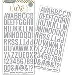 Pink Paislee - Luxe Collection - Glitter Sticker - Alphabet - Silver