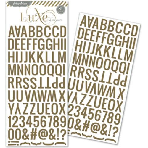 Pink Paislee - Luxe Collection - Glitter Sticker - Alphabet - Copper