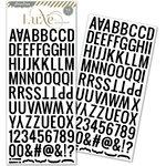 Pink Paislee - Luxe Collection - Glitter Sticker - Alphabet - Black