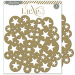 Pink Paislee - Luxe Collection - 8 x 8 Metallic Chipboard Place Mat - Stars