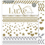 Pink Paislee - Luxe Collection - Foil Rub Ons - Confetti - Silver and Gold