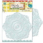 Pink Paislee - She Art Collection - 6 x 6 Stencil Mask - Vintage Lace