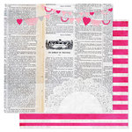 Pink Paislee - Secret Crush Collection - 12 x 12 Double Sided paper - Love Notes