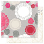 Pink Paislee - Secret Crush Collection - 12 x 12 Double Sided paper - First Kiss