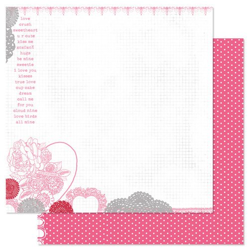 Pink Paislee - Secret Crush Collection - 12 x 12 Double Sided paper - Endless Love
