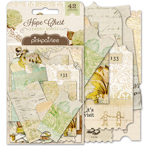 Pink Paislee - Hope Chest Collection - Ephemera Pack - Paper Goods