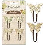 Pink Paislee - Hope Chest Collection - Butterfly Clips