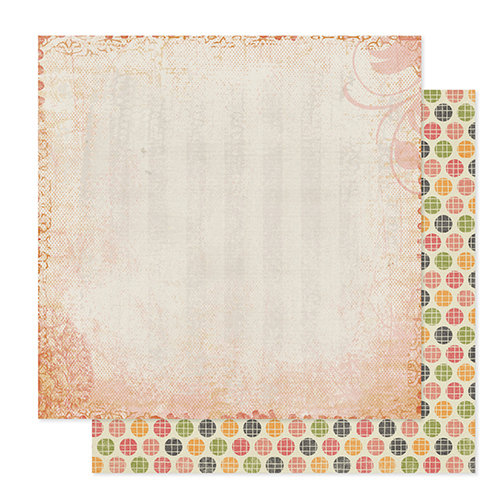 Pink Paislee - Cottage Farms Collection - 12 x 12 Double Sided Paper - Market