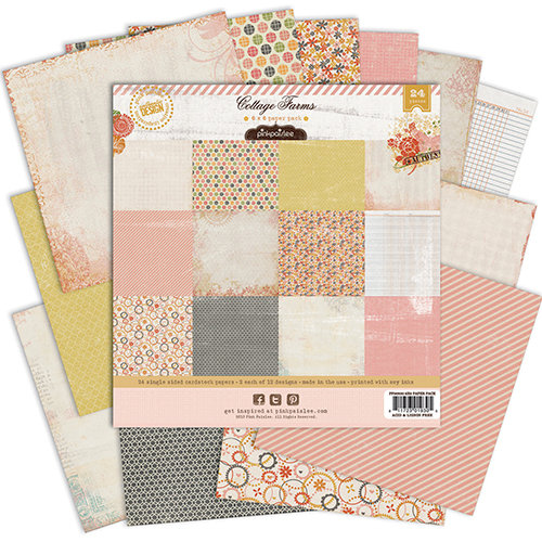 Pink Paislee - Cottage Farms Collection - 6 x 6 Petite Paper Pack