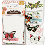 Pink Paislee - Cottage Farms Collection - 3 x 4 Journal Cards