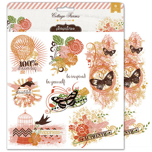 Pink Paislee - Cottage Farms Collection - Press Ons