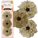 Pink Paislee - Cottage Farms Collection - Burlap Flowers