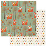 Photo Play Paper - Autumn Day Collection - 12 x 12 Double Sided Paper - Foxes