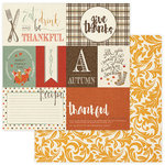 Photo Play Paper - Autumn Day Collection - 12 x 12 Double Sided Paper - Damask