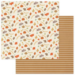 Photo Play Paper - Autumn Day Collection - 12 x 12 Double Sided Paper - Multi Leaf