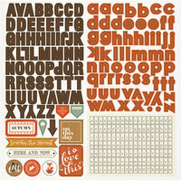 Photo Play Paper - Autumn Day Collection - 12 x 12 Cardstock Stickers - Alphabet