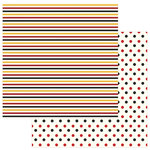 Photo Play Paper - A Day At The Park Collection - 12 x 12 Double Sided Paper - Solids Plus - Multi Stripe