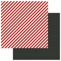Photo Play Paper - A Day At The Park Collection - 12 x 12 Double Sided Paper - Solids Plus - Red Stripe