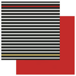 Photo Play Paper - A Day At The Park Collection - 12 x 12 Double Sided Paper - Solids Plus - Black Stripe