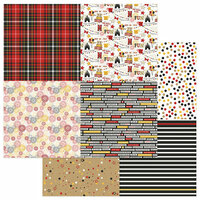 Photo Play Paper - A Day At The Park Collection - 12 x 12 Double Sided Paper - Tiny Prints - Quad 1-2